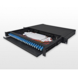 FTTH ODF 19 inch 1U 12 24 36 48 port sc fiber wall mount patch panel