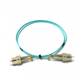 ftth SC PC-SC PC Duplex OM3 MM Fiber Optic Indoor Patch Cord for telecommunications